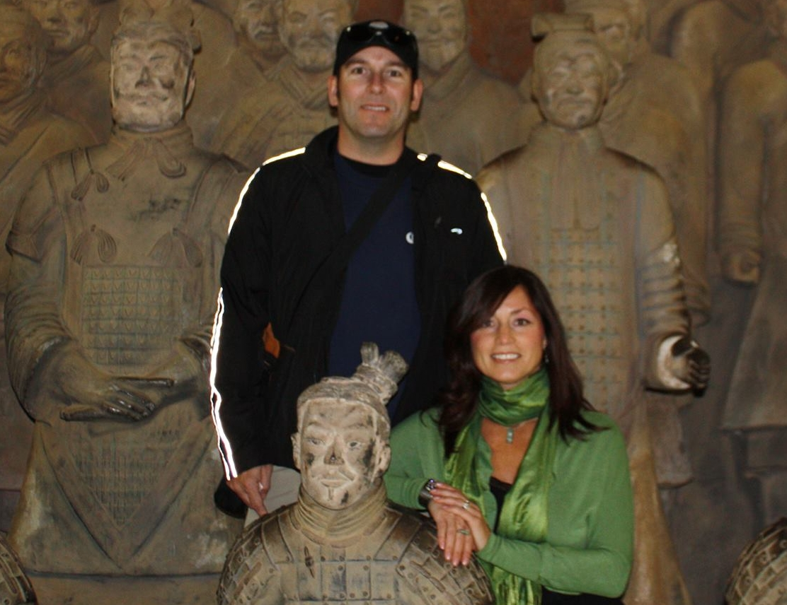 Brent and Carrie at terracotta warriors