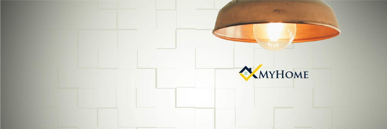 MyHome, header, logo, lamp